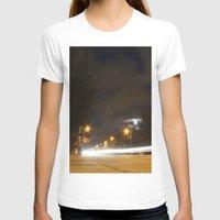 broadway T-shirts featuring Broadway night blur by RMK Creative