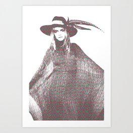 Cara Delevingne: Issa Art Print