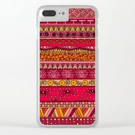 Yzor pattern 013 Summer Sunset Clear iPhone Case