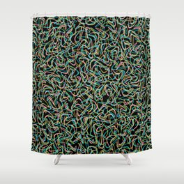 Boomerang Neon Shower Curtain