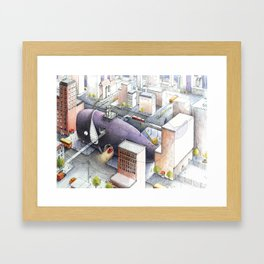 Whale Belly Up Framed Art Print