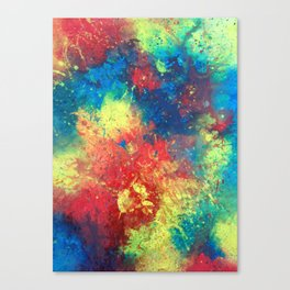 Print of painted abstract art Canvas Print