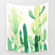 cactus and sun Wall Tapestry
