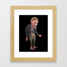 the man with candy Framed Art Print
