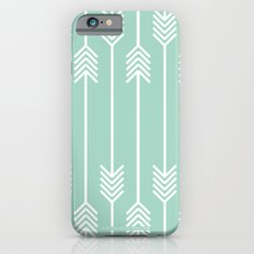 White Arrows on Mint Slim Case iPhone 6s