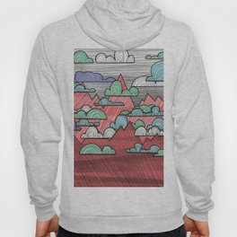 Colorful Mountains and Clouds Hoody