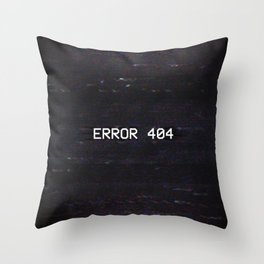 ERROR 404 Throw Pillow
