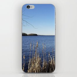 """Incredi-blue"" lake view - Lake Mendota, Madison, WI iPhone Skin"