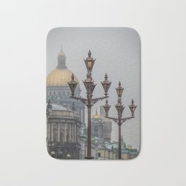 Street lights of Saint Petersburg Bath Mat