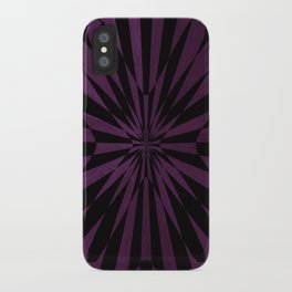 Purple Optical Illusion iPhone Case