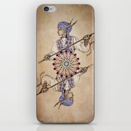 Arabesque Deck of Cards Jack Spades iPhone Skin