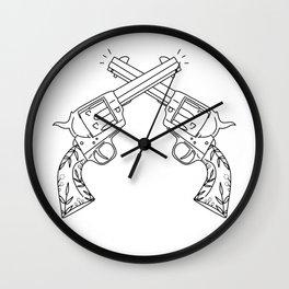 Botanical Revolvers Wall Clock