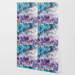 Turquoise & Purple Quartz Crystal Wallpaper