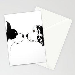 Great Dane Dog with Dalmatian Dog Stationery Cards