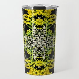 Crowning Goldenrod and Silver king Kaleidoscope Scanography Travel Mug