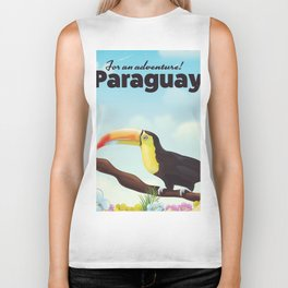 Paraguay Toucan travel poster Biker Tank