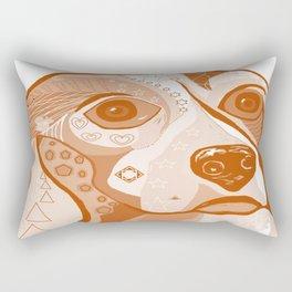 BEAGLE Brown Tones Rectangular Pillow