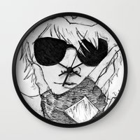 homestuck Wall Clocks featuring Dave Strider // Homestuck by BucketsofBroke