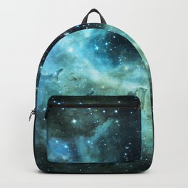 Teal Green Galaxy : Celestial Fireworks Backpack