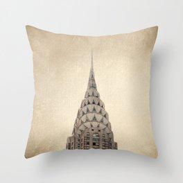 Chrysler Building NYC Throw Pillow