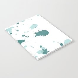 Teal Blue Paint Splatters Notebook