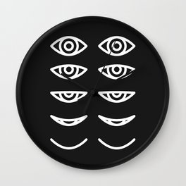 Eyes in Motion Wall Clock