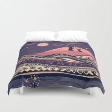 Psychedelic mountains (colour option) Duvet Cover