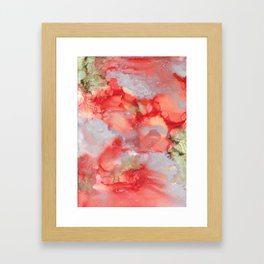 Alcohol Ink 'Big Red' Framed Art Print