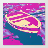 boat Canvas Prints featuring Boat by DistinctyDesign