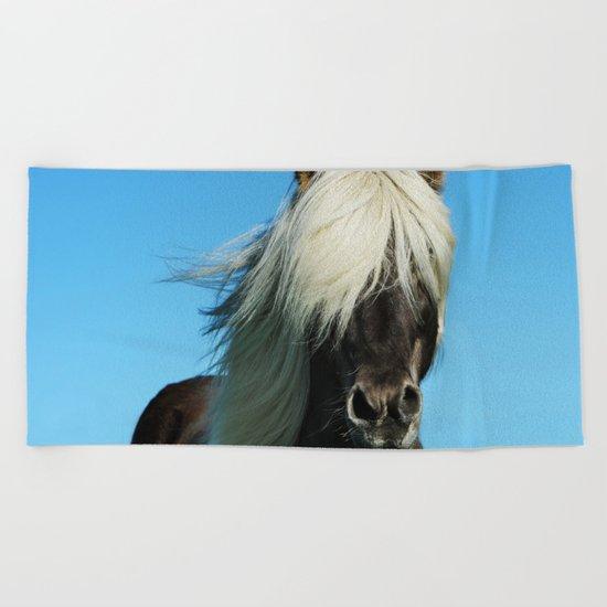 Wild Vision #societ6 #art #prints // Wildife Horse Photography Beach Towel
