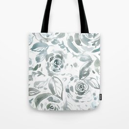 Evelyn Gray Floral Tote Bag