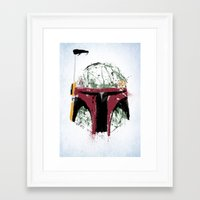 boba Framed Art Prints featuring Boba by Purple Cactus