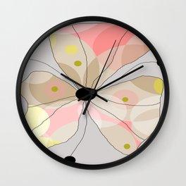 FLOWERY JOHANNA / ORIGINAL DANISH DESIGN bykazandholly Wall Clock