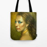 vampire Tote Bags featuring Vampire by George Patsouras