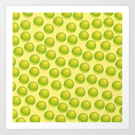 Bubblegum Pop - Lime Art Print