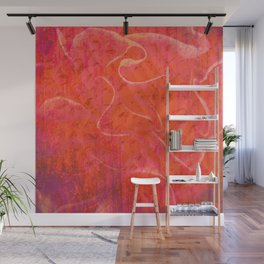 Flaming Rose, Floral Abstract Art Wall Mural