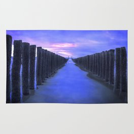 The North Sea beach in the Netherlands, Zeeland Rug