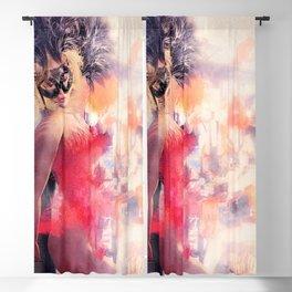 Painted Fan Dancer - Dressing Room Break Blackout Curtain
