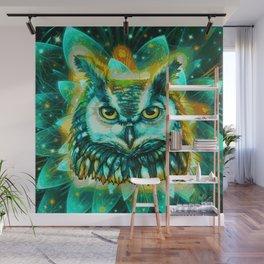 Lotus Owl (Painting) Wall Mural