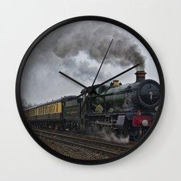 Rood Ashton Hall steam locomotive Wall Clock