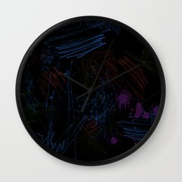 The colorful black BG Wall Clock