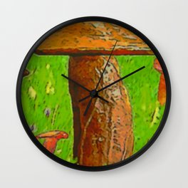 Little men standing in the wood ... Wall Clock