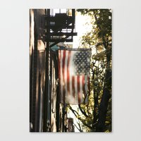 american flag Canvas Prints featuring American Flag by Shy Photog