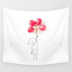 Grapes Ballons Wall Tapestry