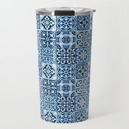 Classic Blue Tiles Travel Mug