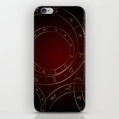 Zodiac circles and signs black and red iPhone & iPod Skin