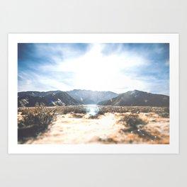 Palm Springs Mountain View Art Print