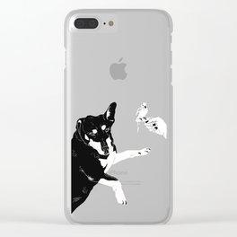 Carly Feelin Antisocial Clear iPhone Case