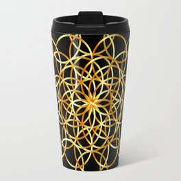 Flower or circle of life Travel Mug