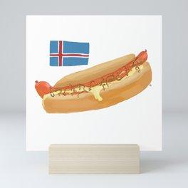 Icelandic Hotdog Mini Art Print